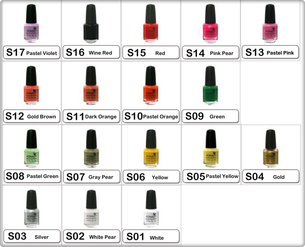 *Please input code number and colour of nail polish when ordering.
